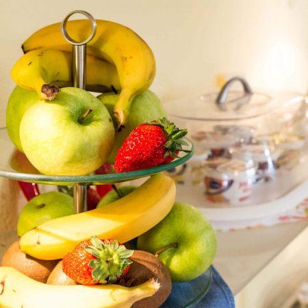 Gästehaus am Turm Frühstück Obst